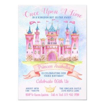 princess castle any number princess birthday party invitation