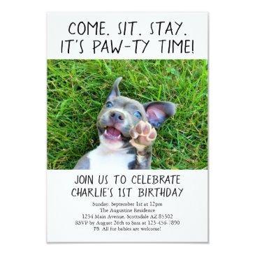 puppy dog birthday party photo