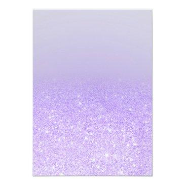 Small Purple Lilac Glitter Elegant Typography Sweet 16 Invitation Back View