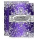 purple princess winter wonderland sweet 16 invite