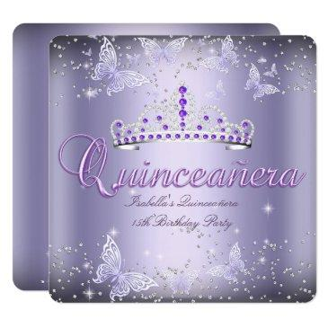quinceanera party purple tiara butterfly 2