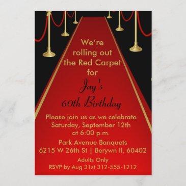 red carpet invitation hollywood theme sweet 16