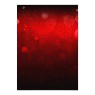 Small Red Silver Carpet Hollywood Sweet 16 Birthday Invitations Back View
