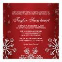 red snowflake sweet sixteen birthday invitation