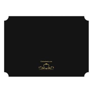 Small Regal Graduate 4 Photo Announcement / Invitation Back View