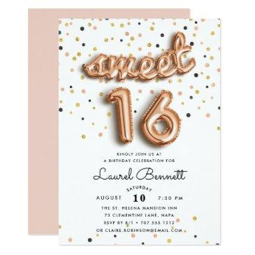 rose gold balloons | sweet 16 party