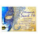 royal blue and gold sweet 16 masquerade party