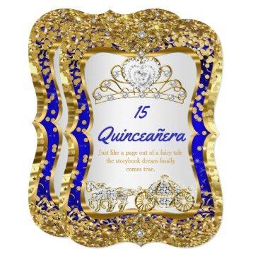 royal blue quinceanera magical tiara gold
