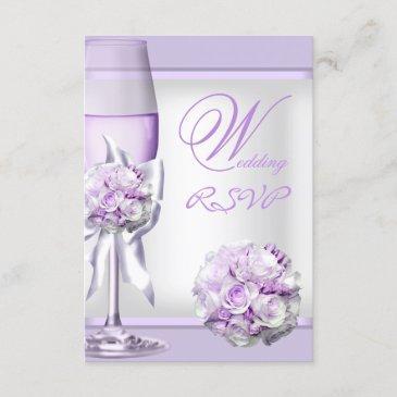 rsvp elegant wedding lavender purple lilac 3