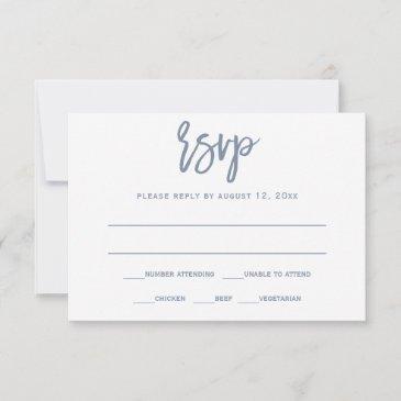 rsvp postinvitations | brush calligraphy - dusty blue
