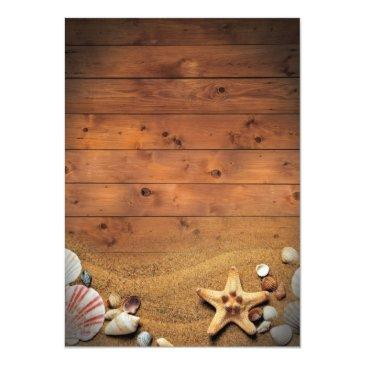 Small Rustic Beach Tropical Nautical Birthday Party Invitations Back View