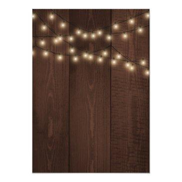 Small Rustic Country Lights Barn Wood Sweet Sixteen Back View