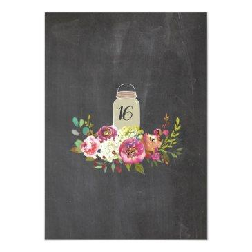 Small Rustic Jars Sweet 16 Party Chalk Floral Lights Back View
