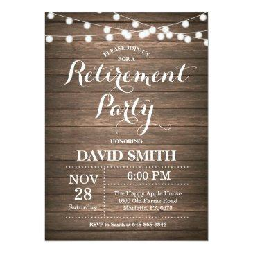 rustic retirement party invitations