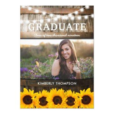 rustic sunflower photo 2019 graduation party