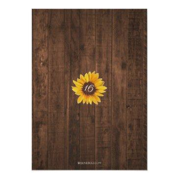 Small Rustic Sunflower Sweet 16 Birthday String Lights Invitation Back View