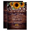 rustic sunflowers and twinkle lights sweet 16 invitation