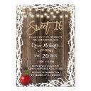 rustic sweet 16 fairytale apple & thorn birthday invitation