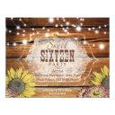 rustic sweet sixteen party invitations
