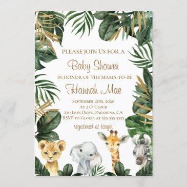safari boy baby shower invitation