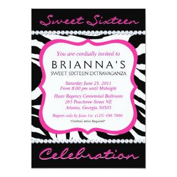sassy sweet sixteen invite