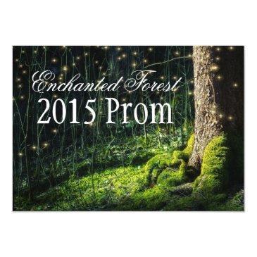 secret garden + enchanted forest prom invitations