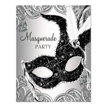silver and black mask masquerade party