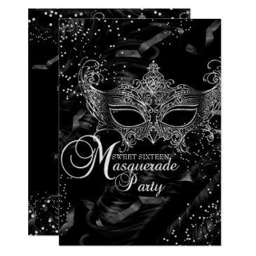 silver black diamond mask masquerade sweet 16