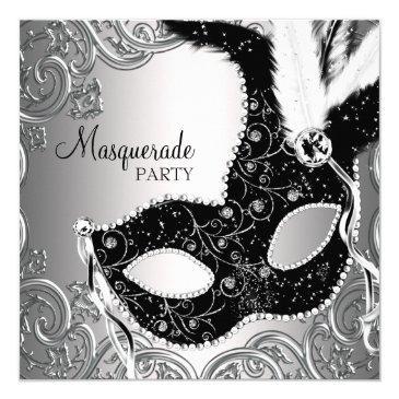 silver black mask masquerade party