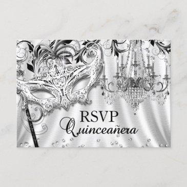 silver chandelier masquerade quinceanera rsvp
