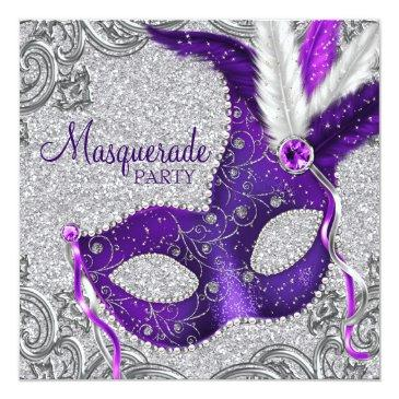 silver purple and pink masquerade party