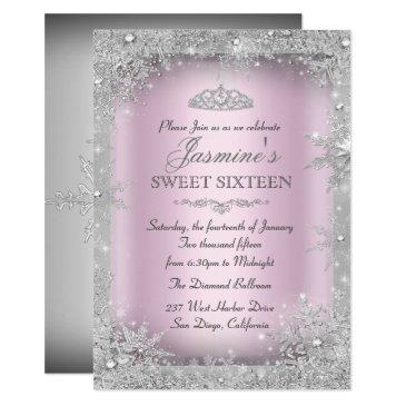 silver winter wonderland pink sweet 16