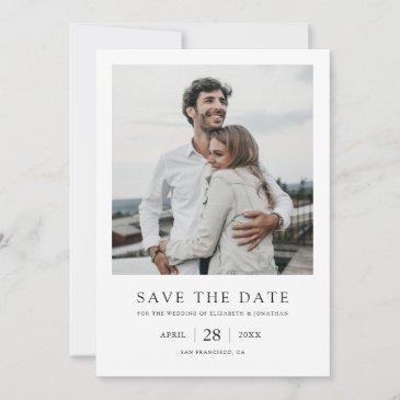 simple elegant modern photo wedding save the date