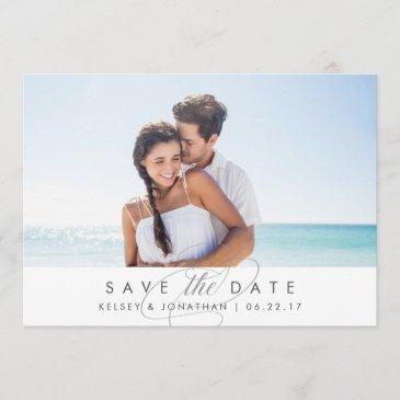 simply elegant | horizontal photo save the date