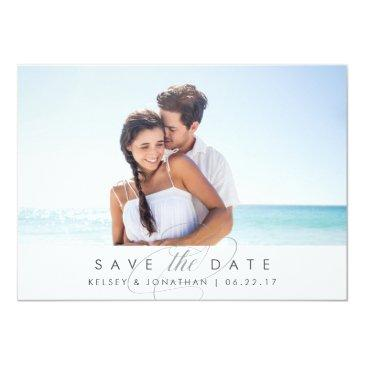 Small Simply Elegant | Horizontal Photo Save The Date Front View