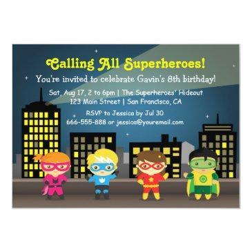 skyline superhero birthday party for kids