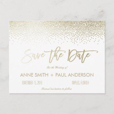 small confetti save the date announcement post