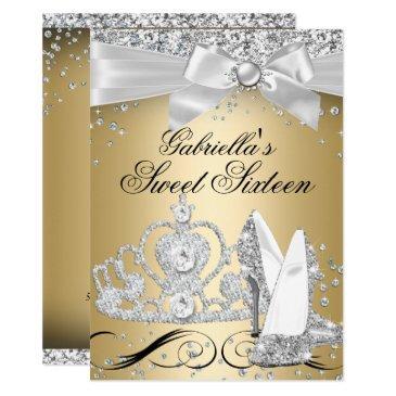 sparkle tiara heels gold sweet 16