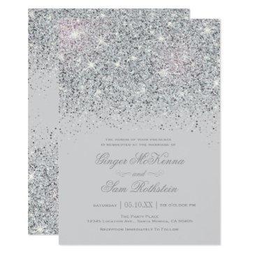 sparkling silver glitter wedding