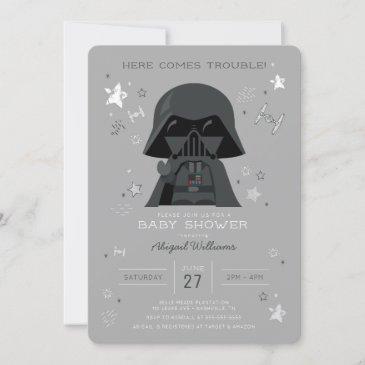 star wars | darth vader baby shower invitation