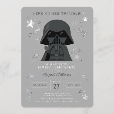 star wars | darth vader baby shower invitation