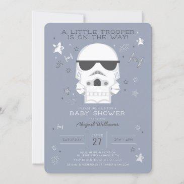 star wars | little trooper baby shower invitation