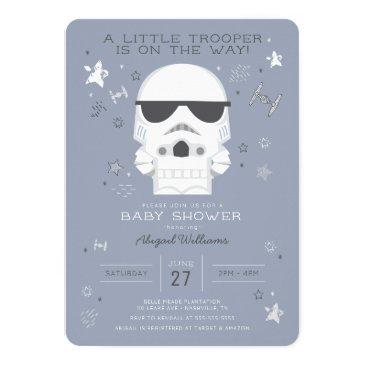 Small Star Wars | Little Trooper Baby Shower Invitation Front View