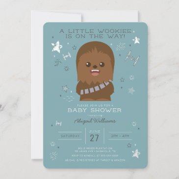 star wars | little wookieee baby shower invitation