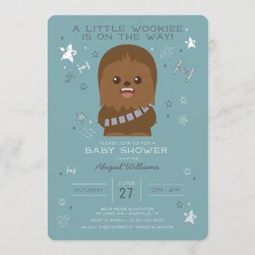 star wars | little wookieee baby shower invitation