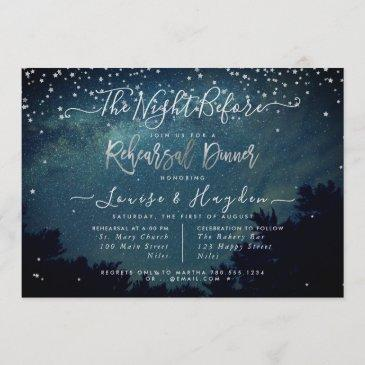 starry night, the night before, rehearsal announce invitation