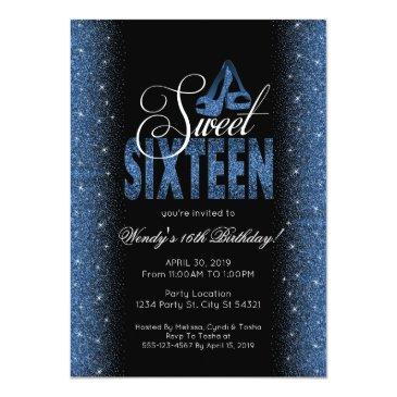 Small Stunning Sapphire Blue Sweet 16 Party Front View