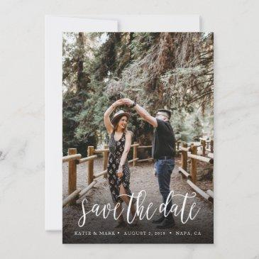 stylish handwritten save the date