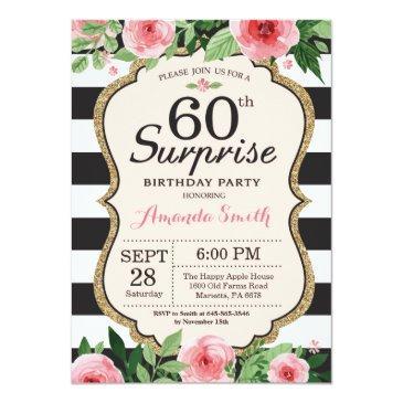 surprise 60th birthday  women floral