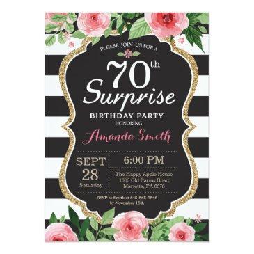 surprise 70th birthday  women floral